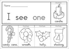 7 Christmas Sight Word Flip Books (color and black and white). Includes a recording sheet for each booklet so kids can write their favorite sentences. Great paper saving alternative to traditional readers!