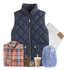 """""""Fall set 🍂/ Kennedy"""" by preppystate-of-mind ❤ liked on Polyvore featuring Abercrombie & Fitch, J.Crew, G.H. Bass & Co. and The North Face"""