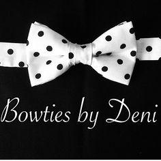 White w/black polka dots!