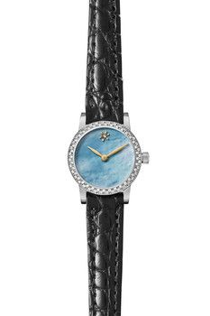 Gomelsky Women's Agnes Varis 20mm Diamond Genuine Alligator Watch - 0.25 ctw