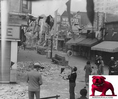 1933 Earthquake damage On Pike Long Beach Los Angeles California