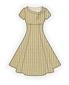 Flared Dress - Sewing Pattern #4368. Made-to-measure sewing pattern from Lekala with free online download.