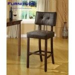 Modern Brown Finish PVC Leather Bar Stool Set of 2   SPECIAL PRICE: $318.99