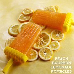 Peach Bourbon Lemonade Popsicles