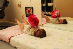 Kits Montessori Room - ceiling hanging provocation (wool pompom, bells, elastic)