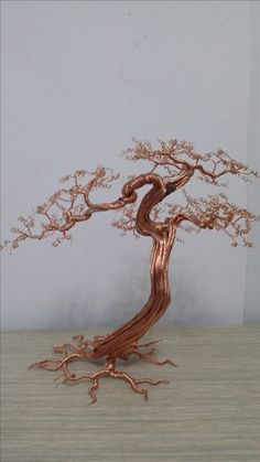 Discover thousands of images about Bonsai Wire Tree Sculpture, Sculpture Art, Fantasy Wire, Cutlery Art, Bonsai Wire, Art Du Fil, Robot Concept Art, Tree Wall Decor, Wire Trees