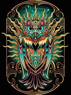 street art - 'Owl The Watcher' ALine Dress by Buho Tattoo, Tattoo Owl, Desenhos Halloween, Owl Artwork, Owl Tattoo Design, Psy Art, Owl Pictures, Beautiful Owl, Cute Owl