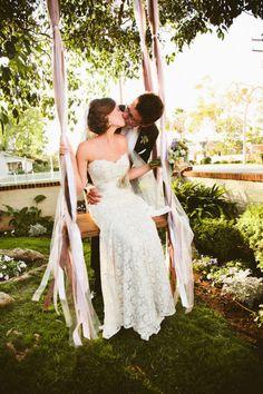 cute wedding photo & love the dress ! <3