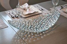 """Large Bubbled Platter, 24"""" Clear bubbled platter"""