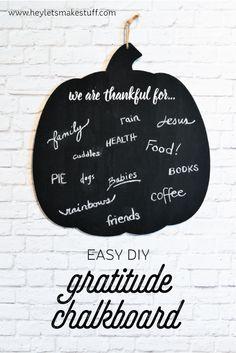 Make a gratitude cha