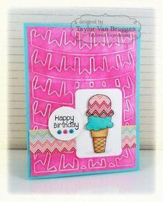 Birthday Ice Cream Card by Taylor VanBruggen #ShareJoy, #Cardmaking, #Birthday
