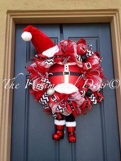 Buckles & Boots Santa Wreath Santa Wreath Santa Boot Wreath Mrs. Diva Claus Wreath Santa Belly Wreath by TheWhimsicalDoor on Etsy https://www.etsy.com/listing/207451173/buckles-boots-santa-wreath-santa-wreath