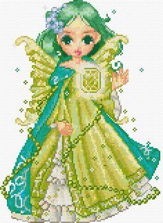 Cross Stitch Pattern *♥*- Green Fairy