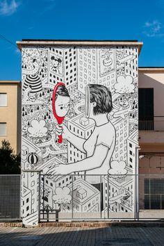 Millo creates a new piece for Memorie Urbane in Gaeta, Italy