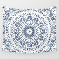 I like to use flowers as inspiration for my #tapestry #art. The floral mandala is done in my transparent style. Flowers represent beauty and nature - this mandala fits perfectly in the #dormroom - helps to calm the mind and sleep well.