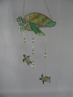 Stained Glass Sea Turtle Hanger with Babies at Jitter Beans Mineral Wells, TX