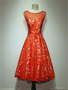 1950s Inspired Lace Evening Vintage Style Retro Dress