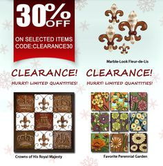 January Clearance Sale! Get 30% off Selected Metal Wall Art