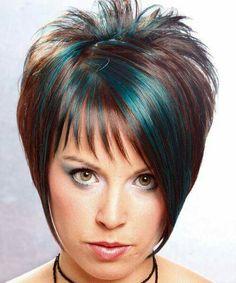 Hair teal highlights
