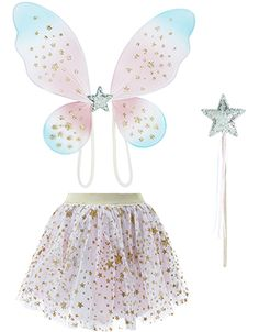 Make her fairy dreams come true with our Stardust dress-up set for girls. Decorated with glitter stars for non-stop sparkle, this set features a layered tutu...