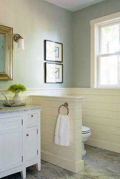New bathroom shower window privacy half walls Ideas Grey Bathrooms, White Bathroom, Bathroom Wall, Small Bathroom, Master Bathroom, Bathroom Ideas, Bathroom Designs, Bathroom Inspiration, Bathroom Lighting