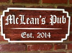 The Carving Company | Full Service Custom Carved Sign Shop | Old English Bar/Pub Sign (BP18)