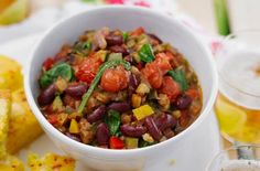 This tasty vegetable chilli recipe is so easy to make and perfect served with rice, tortilla chips and guacamole. This  chilli has a Mediteranean twist. Lighten up a family fave � replace the mince with gorgeous juicy veg. This recipe will take 40 mins to prepare and cook and serves around 6 people. Any leftovers can be stored in an airtight container in the fridge for up to 2-3 days. Reheat thoroughly before serving again. Choose vegetarian friendly cheese when serving this chilli to your…
