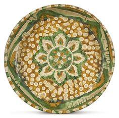A rare sancai-glazed pottery basin, Tang dynasty
