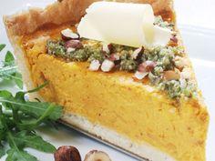 Recetas | Tarta de calabaza con puré de rúcula y avellanas | Utilisima