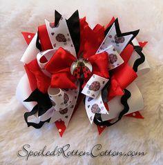 Lady Bug Love custom printed ribbon using t-shirt transfer paper <3