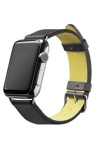 ACTIVE Strap for Apple Watch - Black Leather