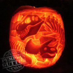 dinosaur pumpkin - Google Search
