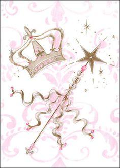 Little Princess Tiara and Wand by Kris Langenberg Canvas Art