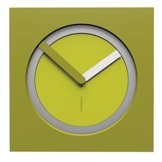 10-022-Q51C02B54O01M54 Wall clock KAM  - Do you like this color scheme? Cedar green, aluminium, olive green and white. Have fun creating your own #wallclockdesigns
