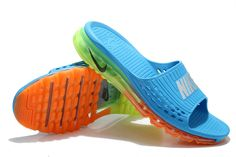 69dd817ec19696 Buy 2015 Latest Nike Air Max Outdoor Slippers Cheap Mens Flip Flop Online  Outlet Sky Blue Green Orange Best from Reliable 2015 Latest Nike Air Max  Outdoor ...