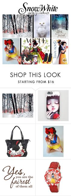 """""""Disney's Snow White and the Seven Dwarfs"""" by slynne-messer ❤ liked on Polyvore featuring Disney, women's clothing, women's fashion, women, female, woman, misses, juniors and snowwhite"""