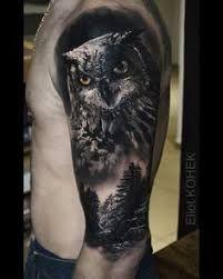 Znalezione obrazy dla zapytania tatuajes de buhos para hombres