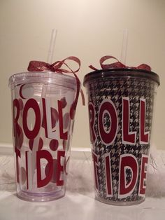 tumblers. Something me and Malea would have for a game day! :)
