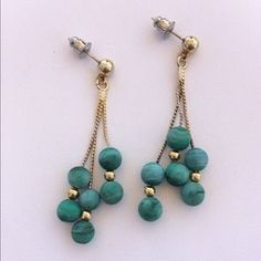 I just discovered this while shopping on Poshmark: Malachite earrings. Check it out!  Size: OS