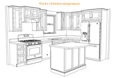 Choosing Good Small Kitchen Remodel Ideas Floor Plans Layout The bedroom is a fantastic place to introduce a color scheme that is suitable for the mood you wish to feel most while you're there. L Shape Kitchen Layout, Kitchen Layouts With Island, Kitchen Layout Plans, Small Kitchen Floor Plans, Best Kitchen Layout, Kitchen Cabinet Layout, Kitchen Small, Kitchen Modern, Kitchen Island
