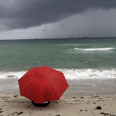 Even a rainy day in the MIA can't keep us away from the beach! Umbrella Art, One Fine Day, Wet Weather, Miami Beach, Rainy Days, Good Times, Earth, Colours, Patio