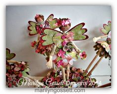 Marilyn Gossett Designs: Handmade Flowers are the theme of the day!