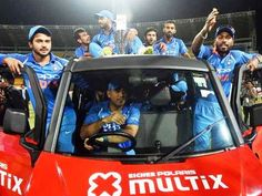 MS Dhoni proved on Sunday beyond any doubt that he is the master behind the stumps in international cricket and now it seems he is also the safest hands behind the wheel in the Indian cricket team. Ms Doni, Dude Where's My Car, Ms Dhoni Photos, Latest Cricket News, Clean Sweep, Mumbai Indians, In This Moment, Spin, Selfies