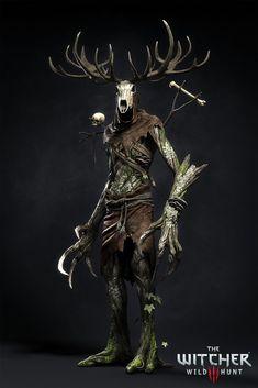 ArtStation - The Witcher III - Leshen, Marcin Blaszczak The Witcher Wild Hunt, The Witcher 3, Medieval Fantasy, Dark Fantasy, Fantasy Art, Fantasy Monster, Monster Art, Plant Monster, Monster High