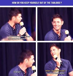 Look at how pleased with himself he is, you just know he's been waiting to make fun of jared publically for that !!!!