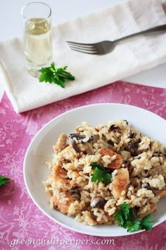 Risotto with Chicken and Mushrooms