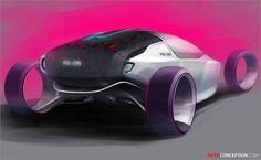 Sports vehicle concept by Inkook Jung - Design Sketch Car Design Sketch, Car Sketch, Design Cars, Futuristic Cars, Futuristic Design, Design Competitions, Car Engine, Transportation Design, Future Car