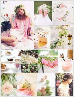 Field Notes: by Kels + Emma  http://www.kelsandemma.blogspot.com  #spring #garden #party  style board from Camille Styles