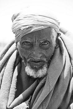 Wise old man in Lalibela, Ethiopia