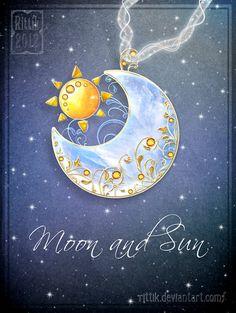 Amulet - Moon and Sun by Rittik.deviantart.com on @deviantART
